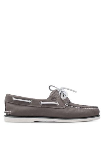 Timberland grey Classic Boat Shoes B3E50SH1CBE875GS_1
