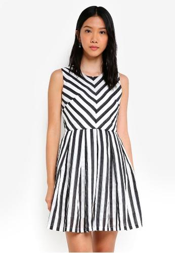 ZALORA multi Chevron Stripe Dress 73D83AADC19D9FGS_1