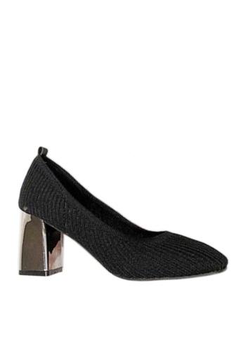 Twenty Eight Shoes black Trendy Knitted Fabric Heels VL880 AD593SHFB0C794GS_1