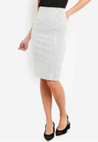 FORCAST white Kindred Fitted Skirt 1EF6DAA3B2F9EEGS_1