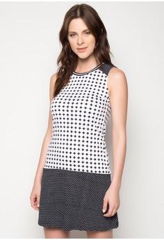 Full Print Mid-Length Sleeveless Dress