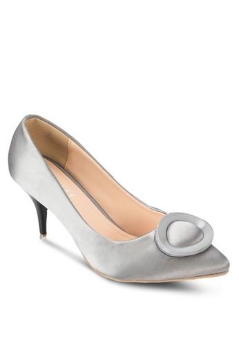 扣環尖頭中跟zalora taiwan 時尚購物網鞋子鞋, 女鞋, 厚底高跟鞋