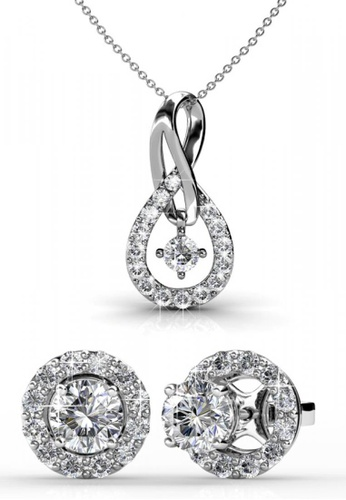 Her Jewellery silver Swarovski® Crystals - Dylis Set (18K White Gold Plated) Her Jewellery HE581AC0RESKMY_1