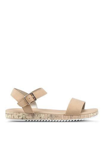 Bata 米褐色 一字帶軟木涼鞋 6ED70SH75E6743GS_1