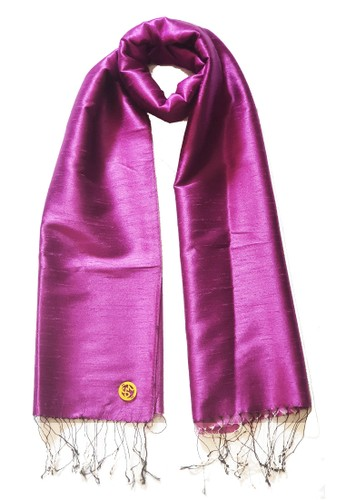 San Marco pink Glamour Raw Silk Pashmina Magenta 69A91AA0710BF1GS_1