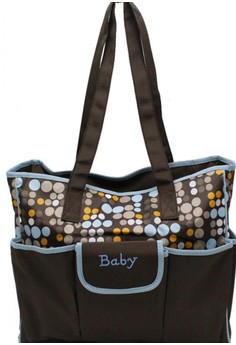 Multi-Color Polka Dots Maternity Fashionable Baby Stuff Organizer and Baby Diaper Changer 2 Strap Bag