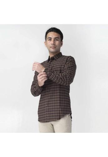 SCOTCH&CO brown SCOTHCO Kemeja Pria Lengan Panjang Fergus Flanel Shirt Kotak Coklat 17821-11533 8EC09AAFDB18C5GS_1
