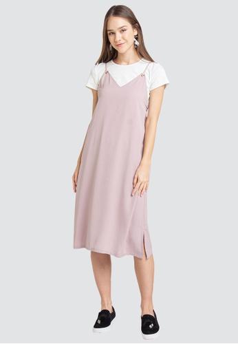 L'zzie pink LZZIE HALEY TWO-PCS DRESS - PINK 23EE4AA9490EABGS_1