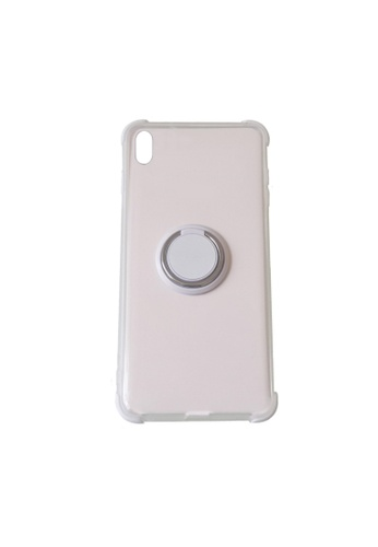 MobileHub white iPhone XS Silicone Clear Case with X-Ring 0C109AC8ADA893GS_1