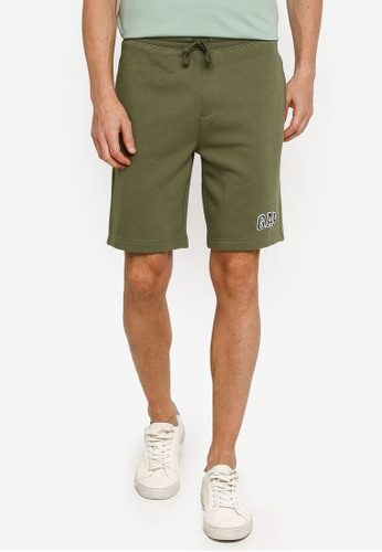 GAP green New Arch Logo Shorts D6F50AA8038AF8GS_1