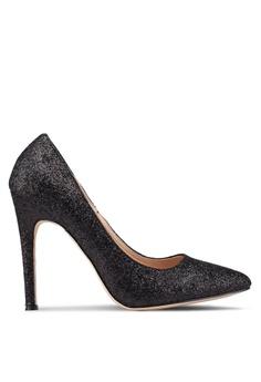 ef7060f7e126 Nose black Glitter Pointy Toe Heel Pumps 83E18SH4FE8F7EGS 1