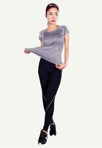 B-Code black ZYG5003-Lady Quick Drying Running Fitness Yoga Sports Leggings-Black B9DE3AA4C3A8E9GS_1