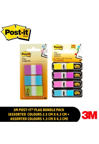 Post-IT 3M Post-it® Flag Bundle Pack (Assorted Colours 2.5 cm x 4.3 cm + Assorted Colours 1.3 cm x 4.3 cm) 2CA5BHLFB7844BGS_1