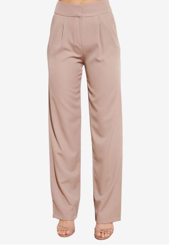 Trendyol beige Darts Wide Legs Trousers E696EAA18E14F1GS_1