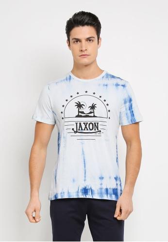 JAXON 藍色 休閒印花T恤 A3E4DAA1C40FECGS_1