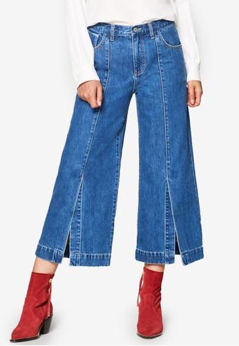 ESPRIT blue Denim Length Service Pants 9C659AA4AED569GS_1