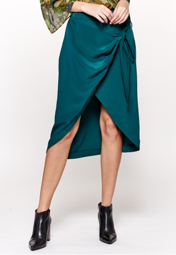 Sisley green Pareo Skirt with Knot D0843AA0D72279GS_1