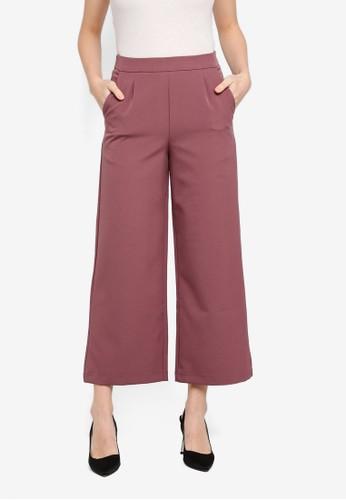 Soonaru purple Dian Ankle Pants B8973AAB64FA92GS_1