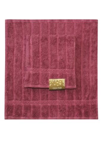Cotton Fields pink Cotton Fields Face Towel Stripes 22252HLD63E337GS_1
