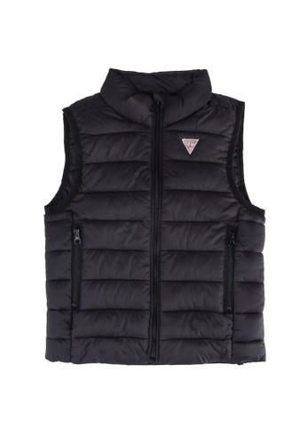 GUESS black Unisex Padded Sleeveless Core Vest 45A36KAACA325FGS_1
