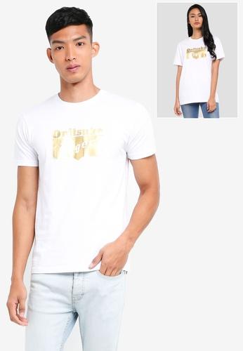 Onitsuka Tiger white Logo T-Shirt ON067AA0SVWXMY_1
