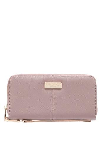 Unisa purple Saffiano Ladies Zip-Up Wallet 943A6ACB474E57GS_1