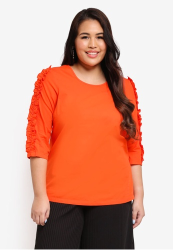 Junarose red Plus Size Oya Blouse 6F6E9AAB766058GS_1