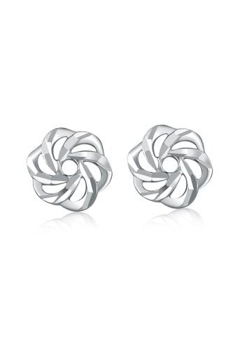 MaBelle silver 14K/585 White Color Gold Gold Cherry Blossom sakura Earrings 8B96BACE4B806BGS_1