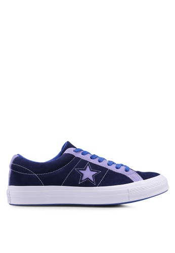 2107099ea35 ... discount code for converse blue one star vintage suede ox sneakers  d7861sh147b73bgs1 62024 bd941