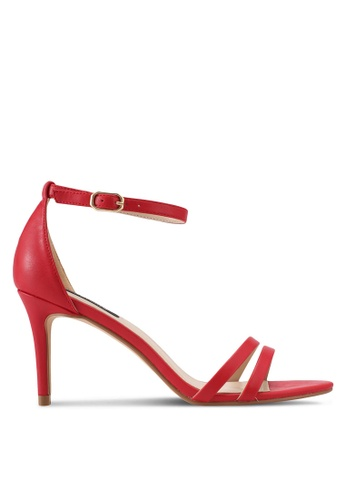 ZALORA red Double Front Strap High Heels AED99SH66A82ECGS_1