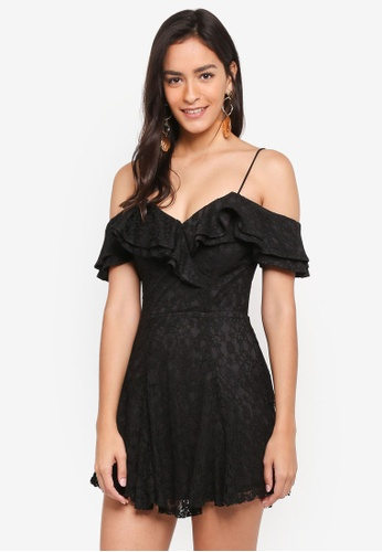 aec3b6436d Buy INDIKAH Cold Shoulder Lace Skater Dress Online on ZALORA Singapore