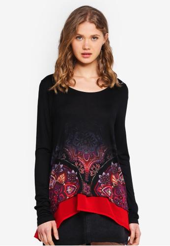 Desigual black Olga T-Shirt B15B9AADAF348DGS_1
