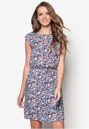 esprit outlet印花繫帶洋裝, 服飾, 服飾