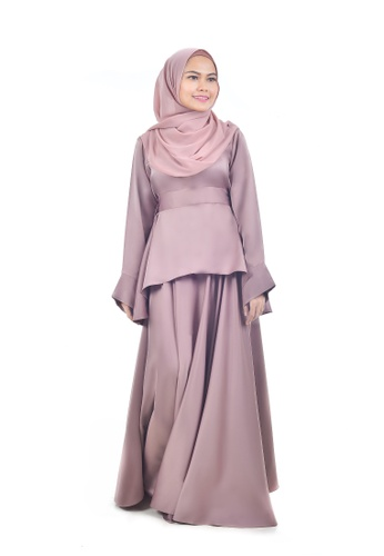 Assie Modesty pink and beige Maxi Skirt With Blouse A5305AAC366C51GS_1
