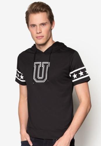 U 字母esprit retail連帽短袖上衣, 服飾, 外套