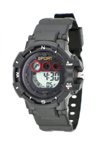 Dooka black Multifunction Sports Watch 665 DO079AC39MFOPH_1
