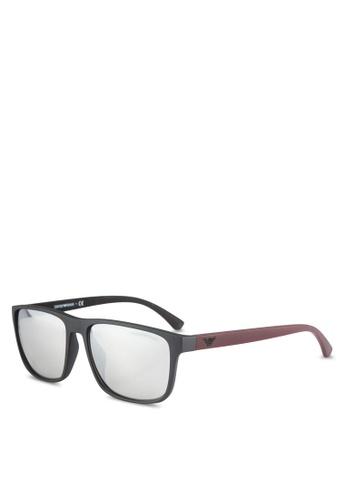 Emporio Armani black Modern EA4087F Sunglasses EM212GL0RNIEMY_1