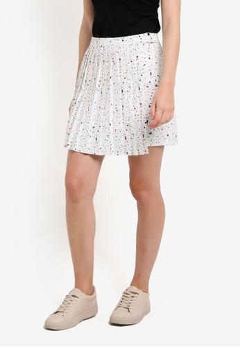 Something Borrowed white Pleated Mini Skirt E7148AAE0BAF07GS_1