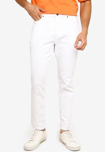 H&M white Twill Trousers Skinny Fit 26B7FAA26C0B06GS_1