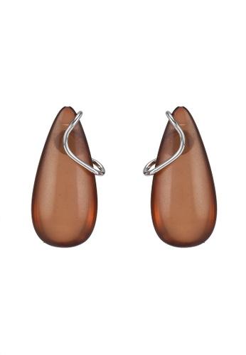 niko and ... brown Teardrop Earrings 15D32AC1F7970DGS_1