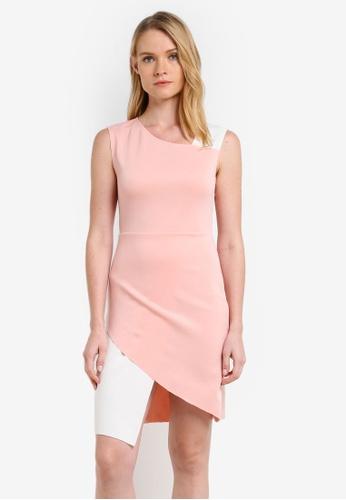 ZALORA pink Colourblock Bodycon Dress C81FDZZ7D360B8GS_1