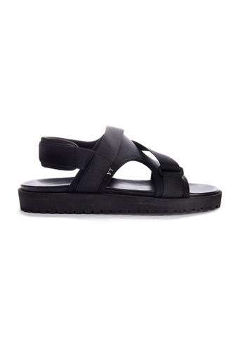 Yoke & Theam black Gray Sandal 754FBSHAC3586BGS_1