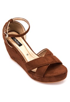 Lexa Cross Over Ankle Strap Wedge