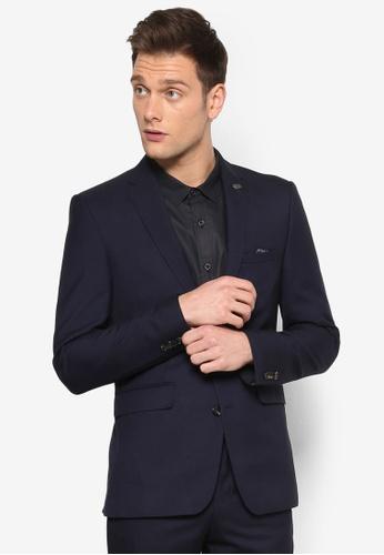 Burton Menswear London navy Slim French Navy Suit Jacket BU964AA52KWXMY_1