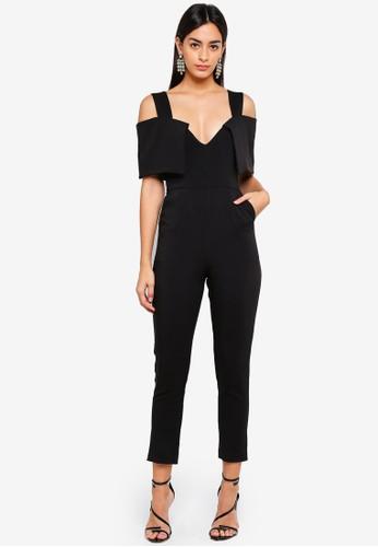 Lavish Alice black Fold Over Tailored Jumpsuit A9423AAE03C811GS_1