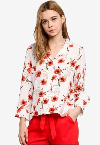 Vero Moda 白色 花卉襯衫 0C23CAA1C587F7GS_1
