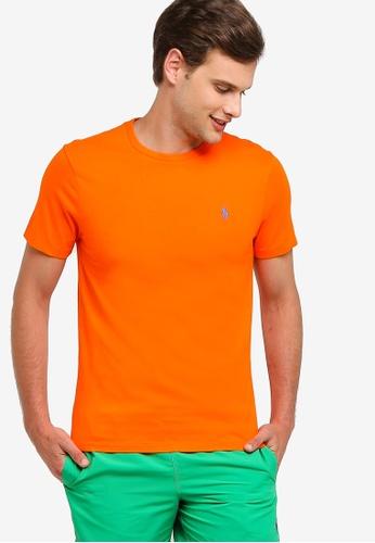 Polo Ralph Lauren 橘色 Short 袖 圓領修身T-襯衫 CF339AA2160DFFGS_1
