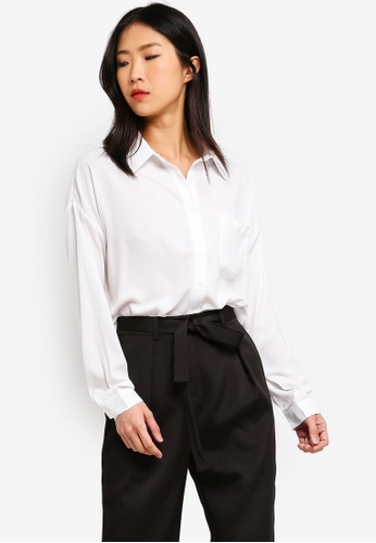 ZALORA BASICS white Basic Oversized Shirt 5E370AA3BD2E99GS_1
