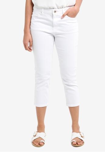 ESPRIT white Woven Capri Pants 186E2AAAA83F61GS_1