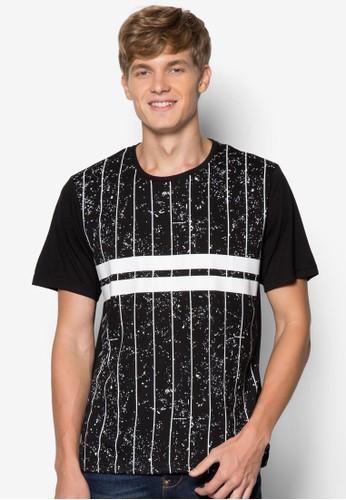 esprit分店運動風設計TEE, 服飾, 條紋T恤